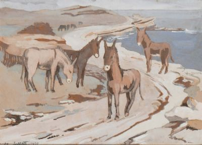 ACHILL DONKEYS by Mainie Jellett  at deVeres Auctions