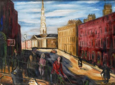 ST GEORGES CHURCH, DUBLIN by Norah McGuinness  at deVeres Auctions