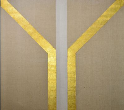 GOLD PAINTING by Patrick Scott  at deVeres Auctions