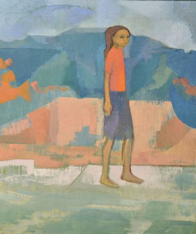 YOUNG GIRL IN LANDSCAPE by Barbara Warren  at deVeres Auctions