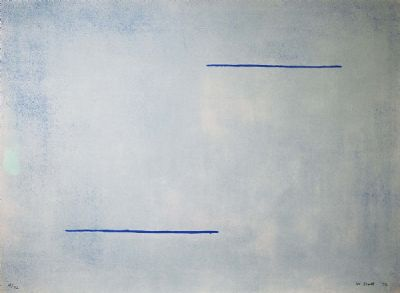 BLUE FIELD by William Scott  at deVeres Auctions