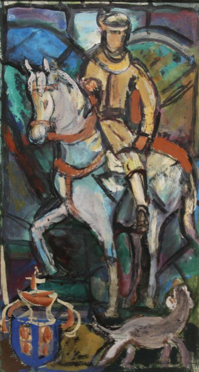 THE WARRIOR by Evie Hone  at deVeres Auctions