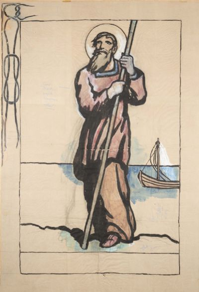 CARTOON FOR A BANNER, PROBABLY ST. BRENDAN (c.1928) by Jack Butler Yeats  at deVeres Auctions