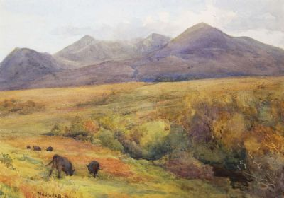 HILLSIDE GRAZING by Mildred Ann Butler  at deVeres Auctions