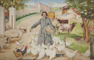 THE IRISH FARM by Margaret Clarke  at deVeres Auctions