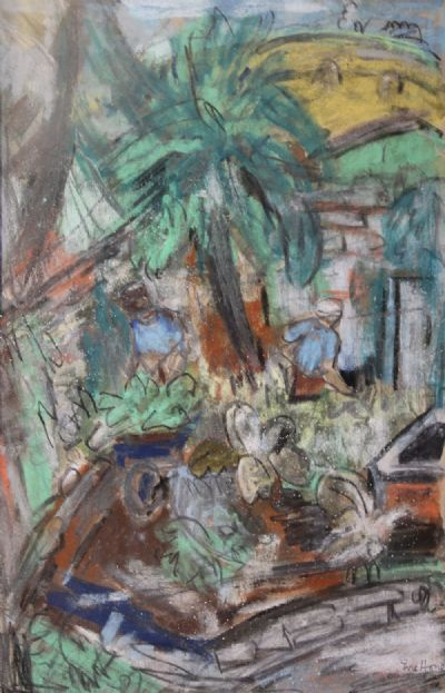 BACKGARDENS by Evie Hone  at deVeres Auctions