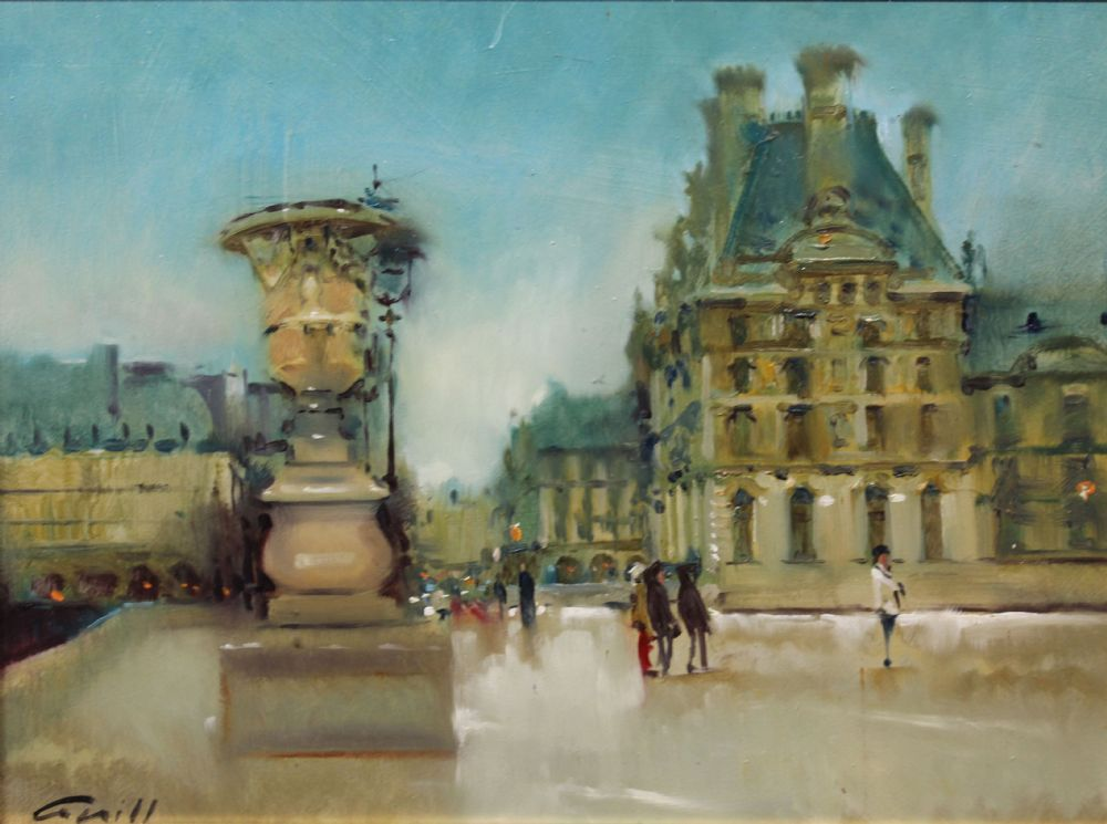WINTER AT THE LOUVRE by Patrick Cahill  at deVeres Auctions