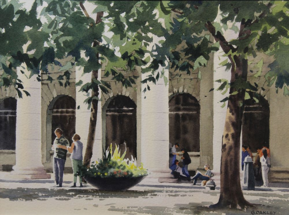 OUTSIDE THE GPO by George Oakley  at deVeres Auctions