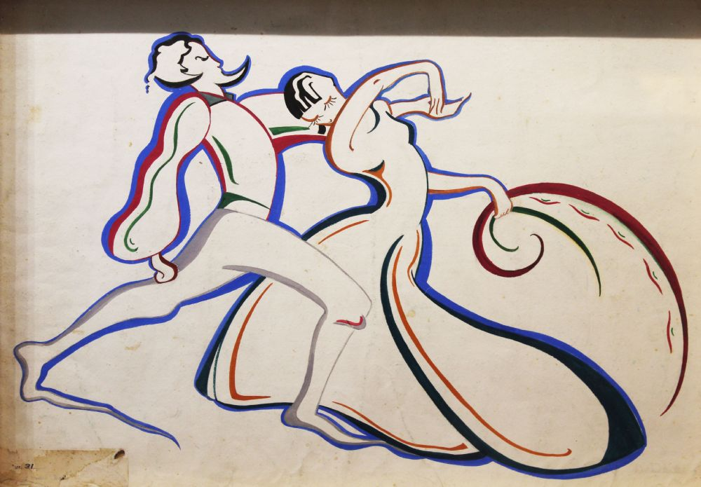 THE DANCE by Barbara Warren  at deVeres Auctions