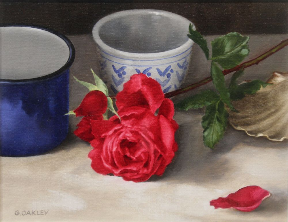 RED ROSE by George Oakley  at deVeres Auctions